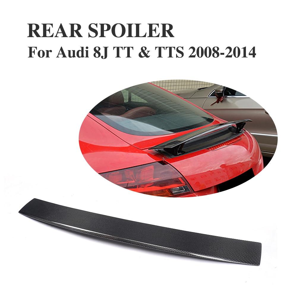 Křídla zadních spoilerů z uhlíkových vláken pro Audi TT / TTS 2007 - 2014 Díly pro doladění automobilů