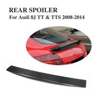 Carbon Fiber Rear Spoiler Trunk Wings For Audi TT / TTS 2007 - 2014 Car Tuning Parts