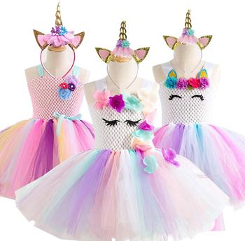 9d3822d27 Unicornio vestido de fiesta niños vestidos para niñas Elsa disfraz Cenicienta  vestido niños niñas princesa vestido fantasía infantil vestido