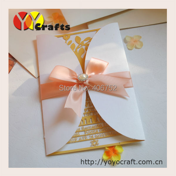 Custom order Laser Cut Wedding Invitation Cards with customers' personalization laser cut information with envelop Lahore