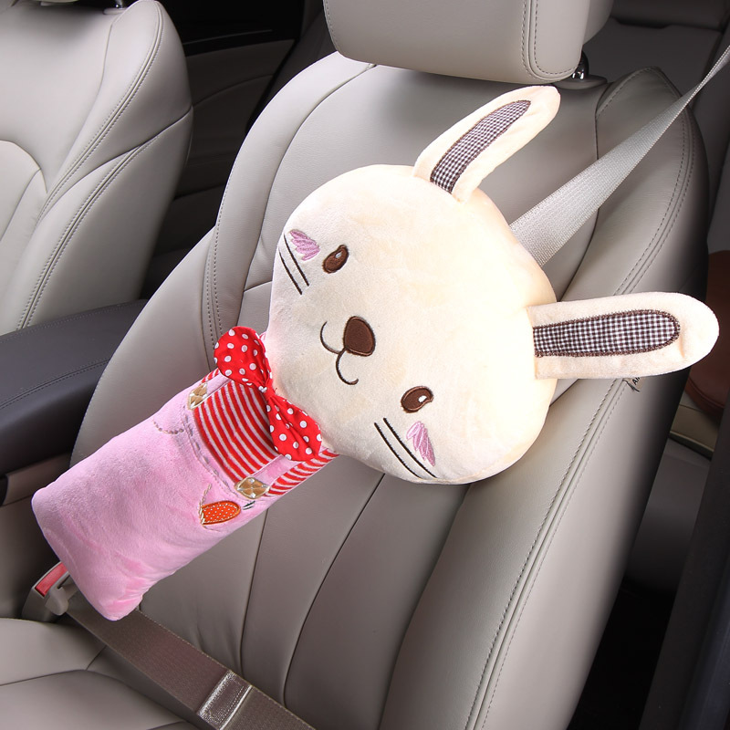 цены Cartoon Baby Plush Pillows For Car Safety Belt Side Sleeping Baby Kids Pillows Neck Shoulder Protection Pad Travel Baby Pillows