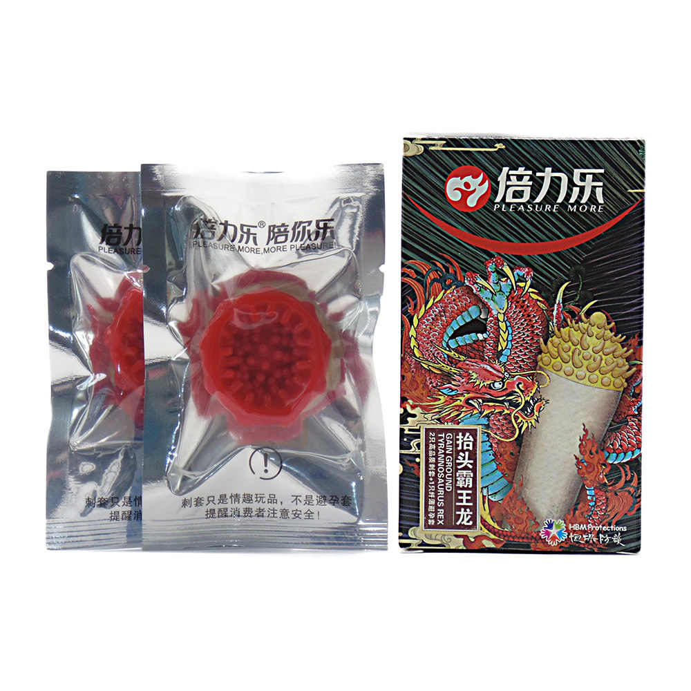 2Pcs/Box Men Sexual Thickening Enlarge Condoms Adult Natural Latex Fun Spike Sex Toys Delay Thorn Flexible Condom