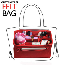 Fits Neverfull MM PM GM Speedy Felt Insert Bag Organizer In Handbag Purse withDetachable Middle Compartment