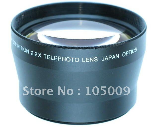 72mm TELEPHOTO 2.2X LENS FOR SONY HDR-FX1 DSC-H9 DSC-H7 sony hdr az1vr