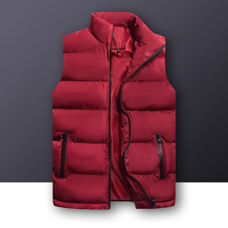 Woodvoice Mens Vests Solid Color Casual Coat Sleeveless Jackets Male Warm Winter Waistcoat Men Quality Vest Men Thicken Coat 6XL