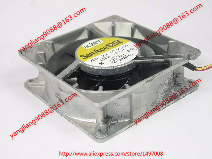 Free Shipping For SANYO 9GL1224G106 DC 24V 0.50A 3-wire 4-pin connector 120x120x38mm Server Cooling Square fan цена