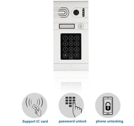 HD 720P Night Vision IP Camera Doorbell Intercom System, EU/AU/US/UK Plug Optional, Iphone&Android APP Remote View/Unlock Door