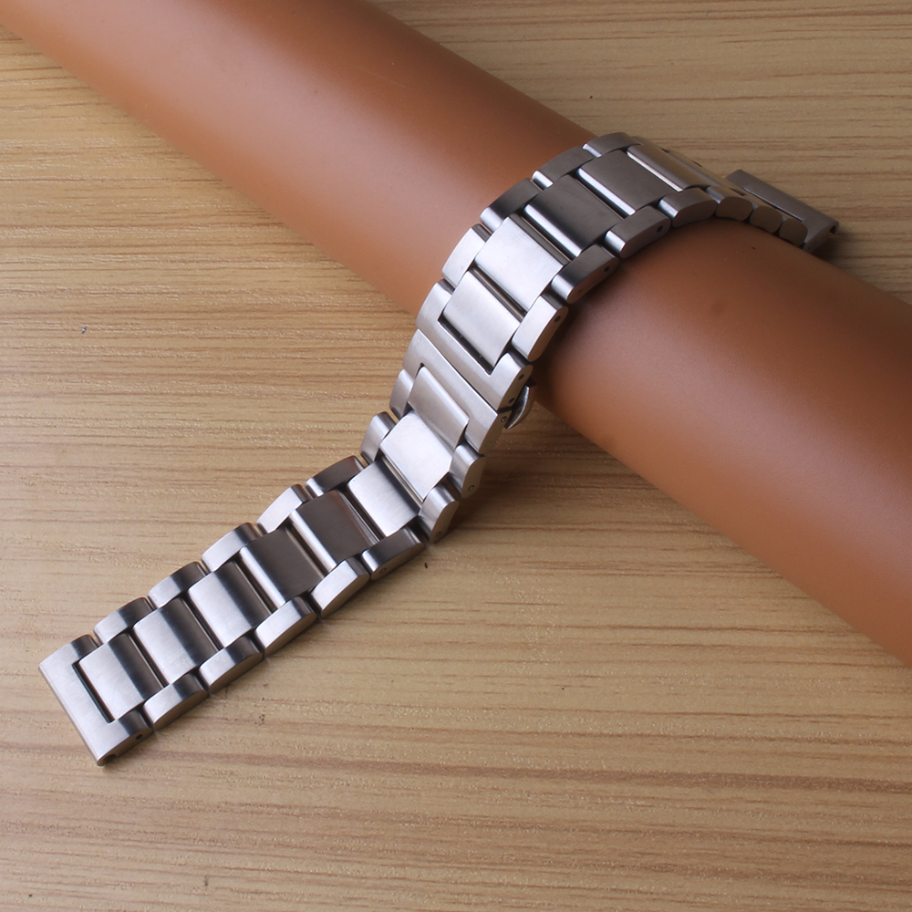 High Quality Stainless steel metal Watch Band Strap Bracelets for smart Wristwatch men Gear S2 S3 S4 Accessories 20mm 22mm matte new 16mm 20mm silver gold metal stainless steel watchband bands strap bracelets for brands watches men high quality accessories