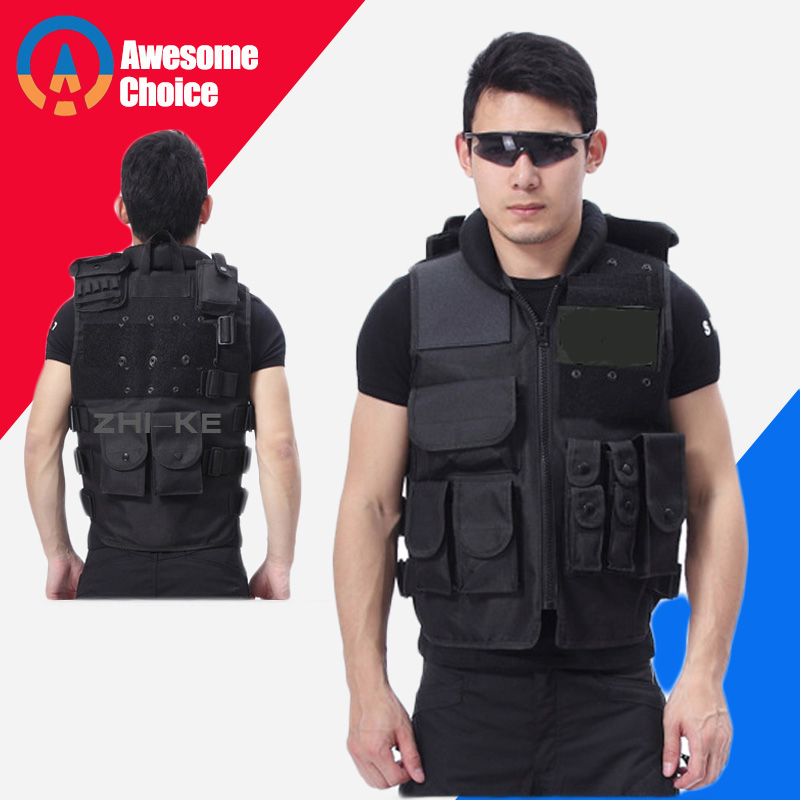 Tactical Vest Men Hunting Vest Outdoor Hunting Waistcaot Military Training CS Waistcoat Protective Modular Security Vest