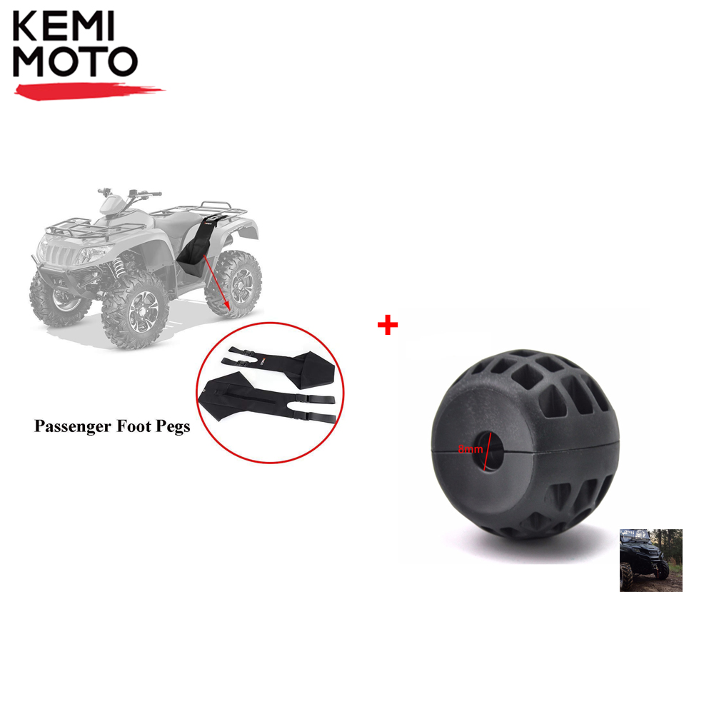 KEMiMOTO Footrest Rear Passenger Foot Rest and Winch Guard Cable Stopper ATV UTV for Polaris Sportsman