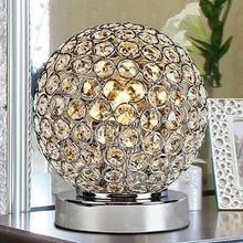 Светодиодная настольная лампа для спальни, современная настольная декоративная Хрустальная настольная лампа, держатель лампы 110-240 В, для гостиной/спальни/прикроватной тумбы
