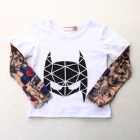 Streetwear Hip Hop Tattoo Sleeve Boy T Shirts Fashion Girls Clothes Novelty Children T Shirts Tops