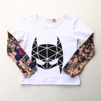 Streetwear Hip Hop Tattoo Sleeve Boy T Shirts Fashion Girls Clothes Novelty Children T Shirts Tops