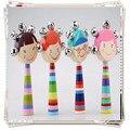 Детские игрушки Мультфильм Погремушки деревянный монтессори развивающие игрушки детские мобильные погремушки mamas papas возрождается младенцев погремушка деревянные головоломки