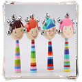 Baby toys Cartoon  Rattle wooden montessori educational toys baby mobile rattles mamas papas reborn babies rattle wood puzzle