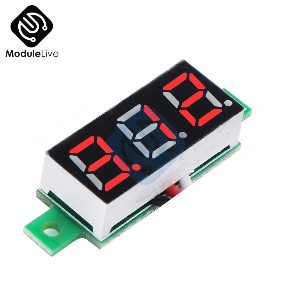 Red Color 0.28 inch 0.28'' 3 Bits Wire Mini DC Digital Panel Voltmeter Panel Mount 0.28 Inch LED Voltage Meter Tester