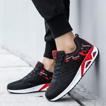 Zapatos De Hombre Flyknit Air Cushion Sneakers Casual Breathable Non-slip Wear Lace-Up Shoes for Men Support Dropshipping