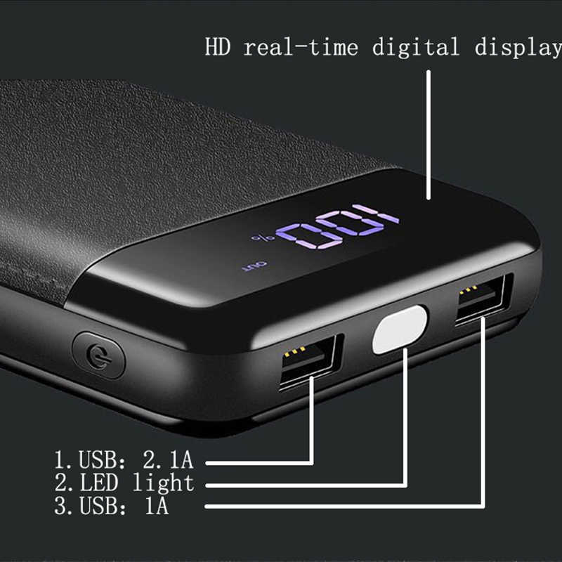30000 mah قوة البنك بطارية خارجية PoverBank 2 USB LCD تجدد Powerbank المحمولة الهاتف المحمول شاحن هواتف xiaomi iphone XS ماكس 6 7 8