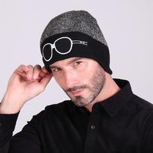 Hot Sale Mens Hats Fashion Cartoon Glasses Patten Knitting Caps Men Women Winter Warm Cap Casual Hat Skullies Beanies Casquette