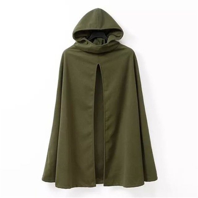 Nova moda mulheres Trench inverno blusão com capuz longo Ponchos Capes Manto casacos Cardigans Manto Mujer Plus Size exército verde