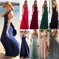 Womens Convertible Multiway Wrap Bandage Maxi Robe Bridesmaid Long Dress Rapture