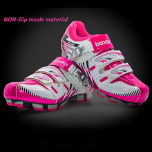 2018 Woman Pink Road Bicycle Shoes MTB Riding Equipment Cycling Locking Shoes Racing Breathable Athletic MTB Bike Shoes EUR36-39