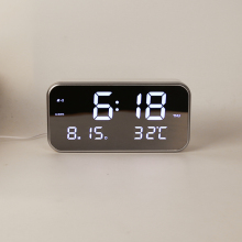 LED Music Alarm Clock Digital Snooze Clocks,Week 12/24h Format,Date,Time,Temperature .Display,3 sets Of Alarm,25 classic Music