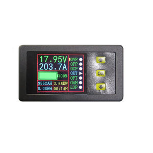 Image 4 - 0 500A قاعة Coulomb متر متعدد LCD تيار مستمر ثنائي الاتجاه الجهد الحالي قدرة الطاقة الوقت رصد البطارية تهمة التفريغ