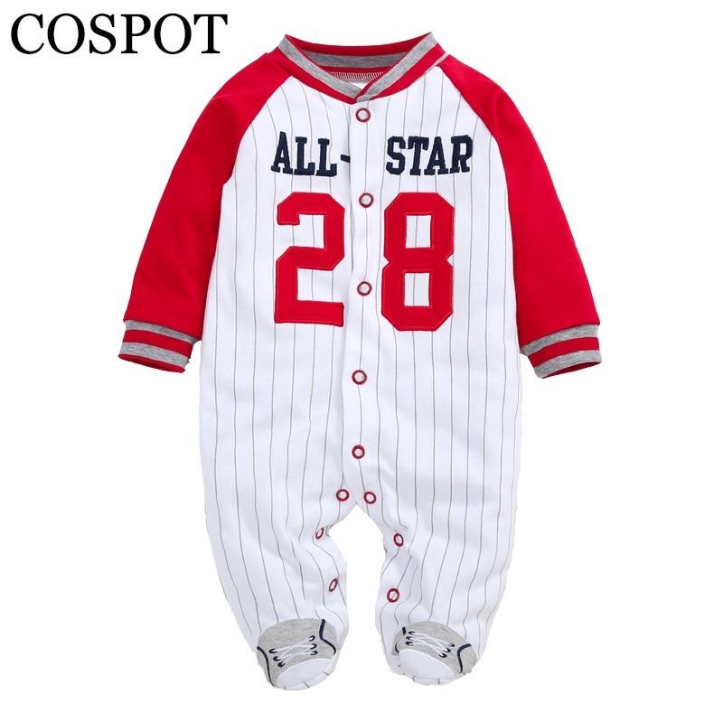 COSPOT recién nacido Footies manga larga Otoño Invierno pijamas de algodón Jumpsuit Bebes niño ropa niño Infante traje 2019 nuevo 30
