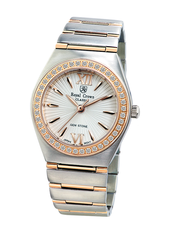 baaf626c9fd Royal Crown Jewelry Watch 6416M Italy brand Diamond Japan MIYOTA Rose gold  top luxury brand jewelry