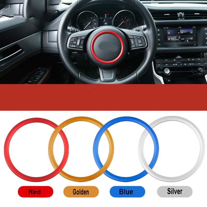 Car Steering Wheel Center Emblem sticker Decorative Ring cover for Jaguar XF XE s type x type f pace XEL XFL S R sport logo trim in Interior Mouldings from Automobiles Motorcycles