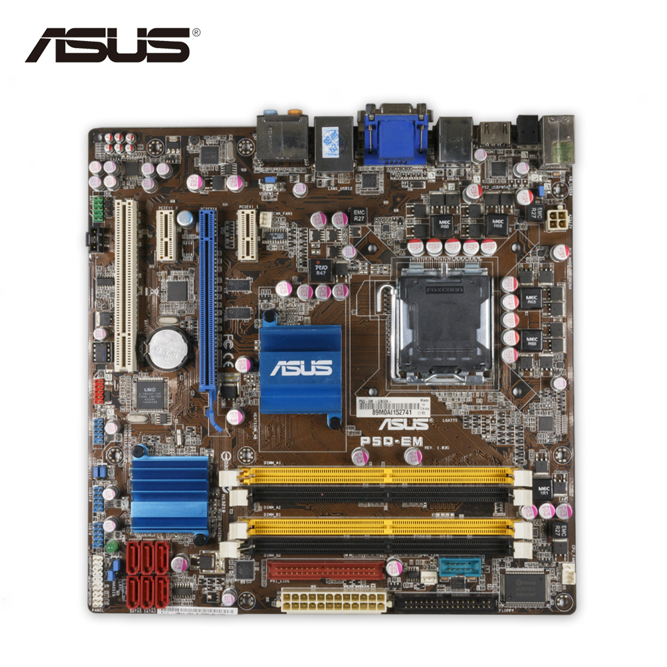 Original Used Asus P5Q-EM Desktop Motherboard G45 Socket LGA 775 DDR2 16G SATA2 USB2.0 uATX 100% Fully Test original used asus p5kpl desktop motherboard g31 socket lga 775 ddr2 sata2 atx 100% fully test