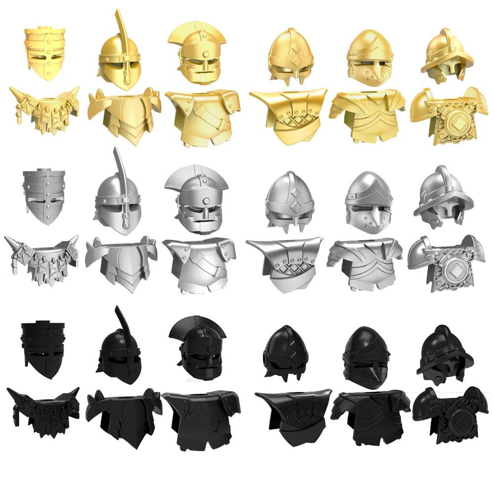 10pcs Helmet and Armor for Golden Company Second Sons Unsullied Dothraki Middle Ages Total War Game of Thrones Building Block image