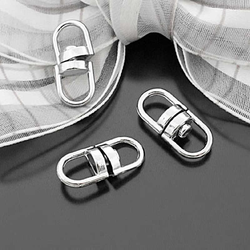 (27700) 50 Pcs 14X5 Mm 16X6.5 Mm 19X8 Mm Stainless Steel Warna Berlapis Seng Paduan putar Konektor untuk Kunci Cincin Perhiasan Aksesoris