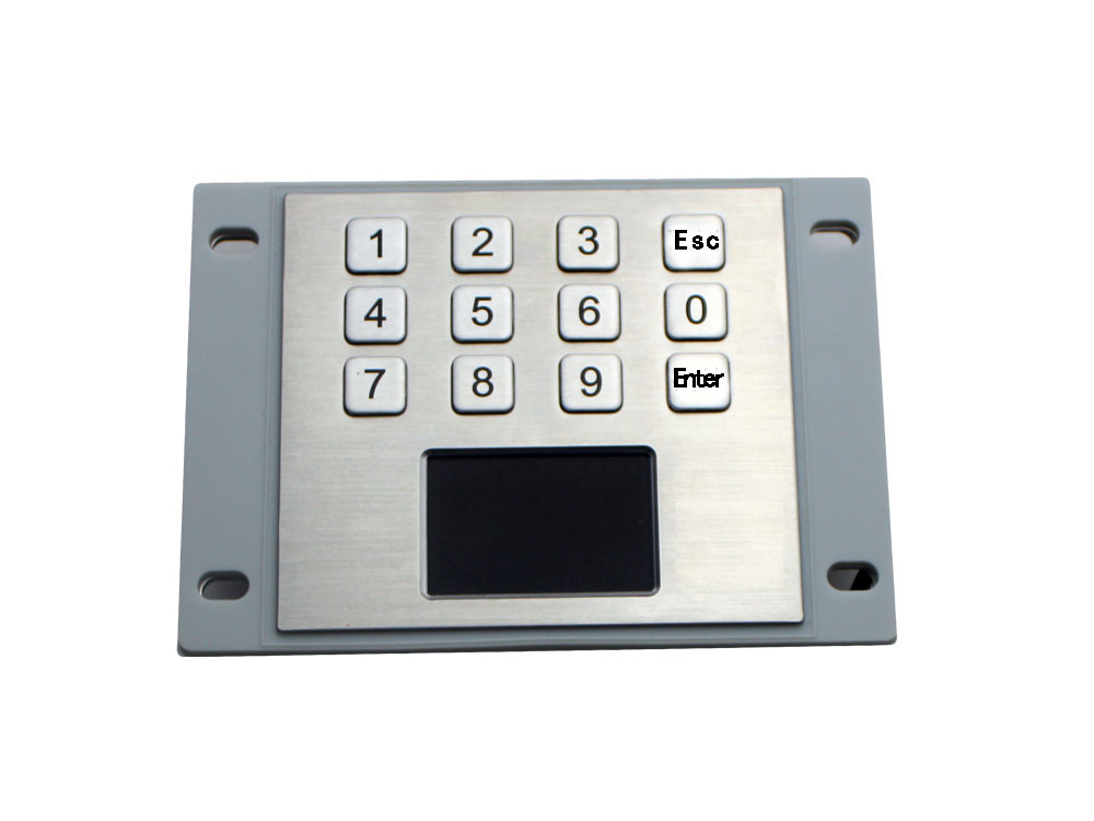 IP65 Stainless Steel USB kiosk Keyboard With Touchpad with 12 keys ...