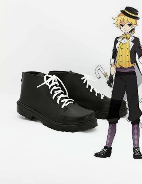 Custom Made Japanese Anime Vocaloid Project Diva F Kagamine Len Cosplay  Shoes Boots For Christmas Halloween