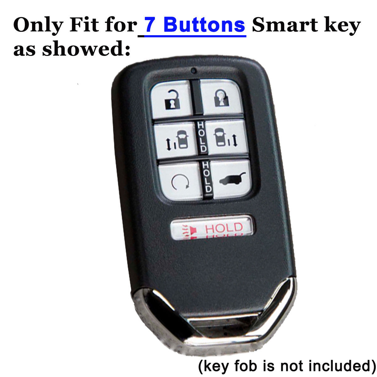 Silicone 7 Buttons Key Fob Cover Holder Protector Keyless Case