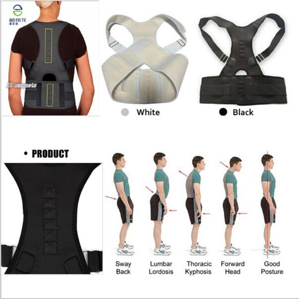 Back Support Posture Correction Men Women Magnetic Posture Corset Back Brace Orthopedic Vest for Back Braces