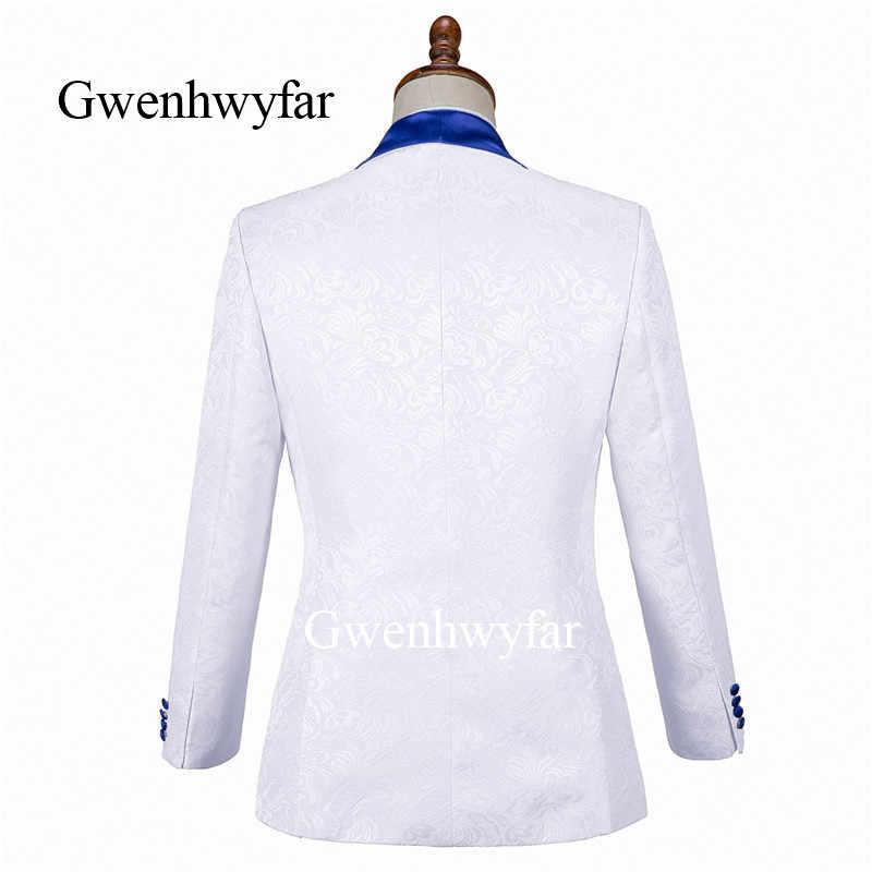 Gwenhwyfar2019 nuevo traje de boda/baile de graduación/cena Blazer de padrino de solapa novio esmoquin para hombre (chaqueta + pantalones + chaleco)