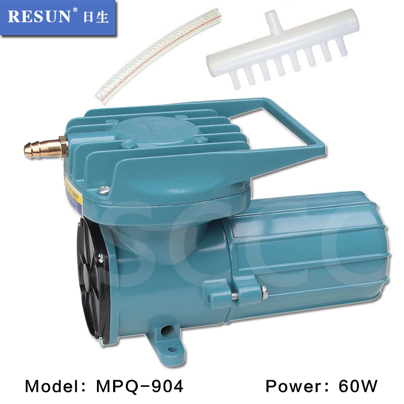 60W RESUN MPQ 904 DC 12V Aquarium Fish Tank Air Compressor Portable Aquaculture Vehicle Mounted Air