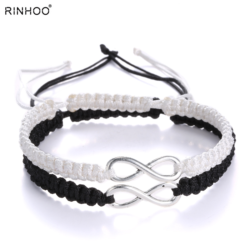 Fashion Couples Bracelet Lovers Bracelet Handmade Braided Weaving Bracelets For Girlfriend Boyfriend Women Men Jewelry
