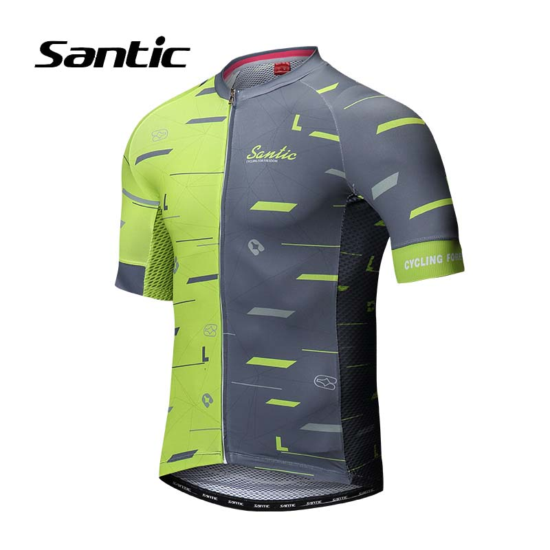 Santic Cycling Jersey Men 2018 Pro Racing Team MTB Shirt Road Mountain Bike Jersey Short Sleeve Bicycle Jersey Maillot Ciclismo