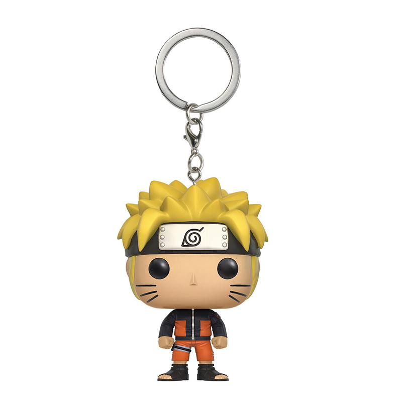Funko Pop Pocket Key Chains Naruto Shippuden Q Version Naruto Doll Car Key Chain for Women Bag Pendant Fans Collection SP1718 funko pop keychains harry potter series q version key ring hermione granger lord voldemort severus snape dobby key fob sp1632