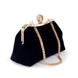 Image 4 - THINKTHENDO Women Party Wedding Clutch Luxury Purse Rhinestone Evening Prom Bag Chain Wallet