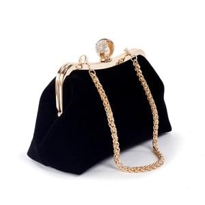Image 4 - THINKTHENDO 女性パーティー結婚式クラッチ高級財布ラインストーンイブニングバッグチェーン財布