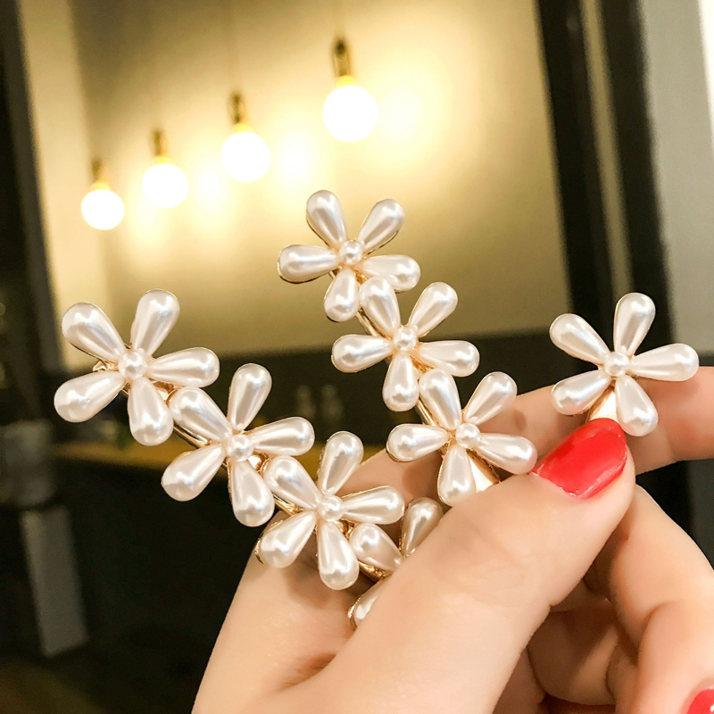 Pearl Hair Clip Barrettes Fashion Girls Pearls Flower Hairpins Mini Hair Pin Korean Chic Retro Hair Clips Women Hair Accessories