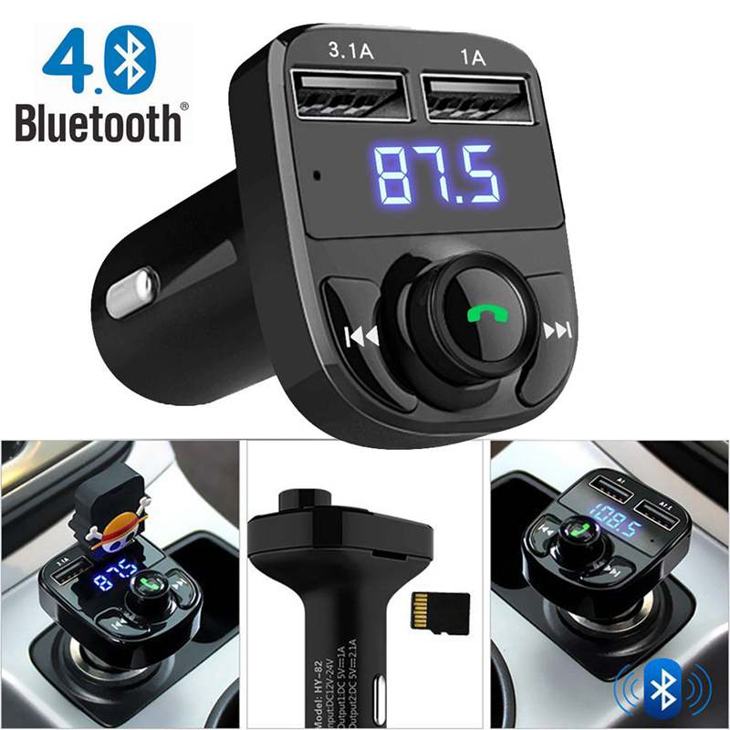 цена на FM Transmitter Aux Modulator Bluetooth Handsfree Car Kit Car Audio MP3 Player with 3.1A Quick Charge Dual USB Car Charger