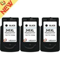 Hisaint 3PK Compatible para Canon PG245XL 245XL 245 XL alto rendimiento negro cartucho de tinta remanufacturado para Canon PIXMA iP2820MG2420