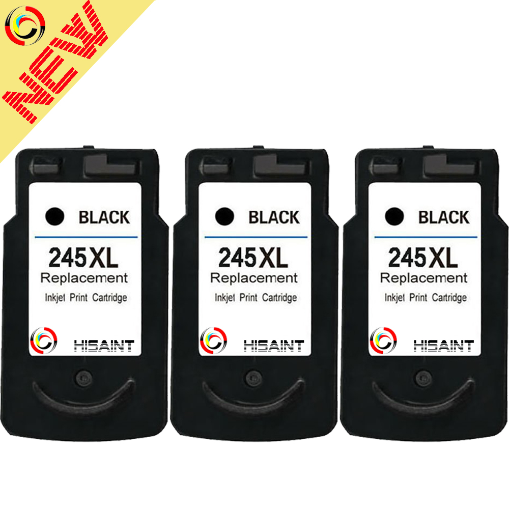 hisaint 3PK Compatible For Canon PG245XL 245XL 245 XL High Yield Black Remanufactured Ink Cartridge For Canon PIXMA iP2820MG2420 все цены