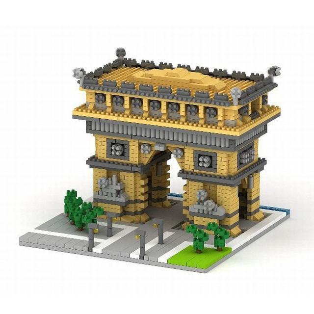 YZ Diamond Model Building Kits Blocks Set Burj Dubai Burj Al Arab Hotel Triumphal Arch The Louvre Museum Assemble Toy 1860pcs